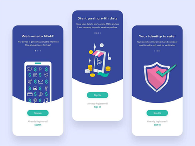 Start Earning From Your Data! app minimal design uiux ui trends futurism payment app paying app