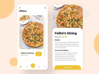 Food Hunting & Discount App For Foodies design app graphic design app design ui  ux food design food app foodies