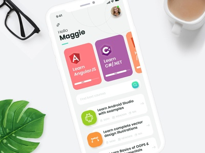 UI Design: Code Learning App figma app app design graphic design adobexd design ux ui mobile ui mobile app