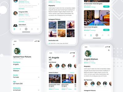 UI/UX Design For Social App to Connect People smm mobile app ui ux facebook instagram figma ui design minimal app socialmedia socialapp design 2021
