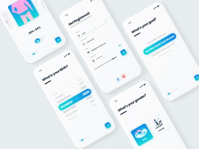 UI of Fitness App minimal app mobile app design gym app running app gym sign up login screen fitness app ui exercise app workout app ui fitness app