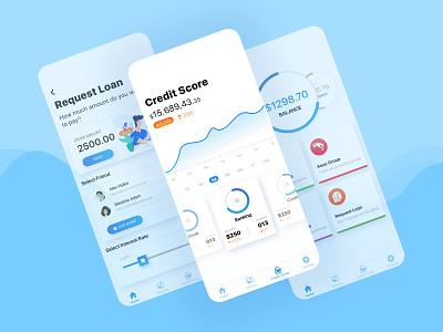 Digital Banking Loan App ux design clean ui mobile developer minimal ios concept app design mobile app user experience user interface ui ux digital loan online banking digitalapp banking app