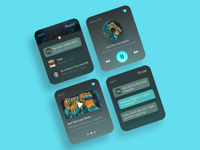 Apple Watch Music Interface art graphic design typography design ui