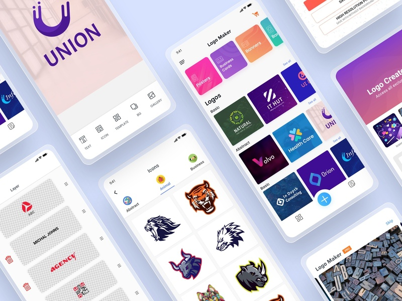 Logo Creator App ios app design live product free template icon problem solving user research template design logo graphic design app store logo maker free ux app design ui design product live app app logo maker logo maker app