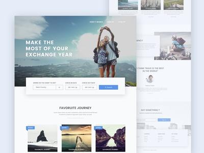 Travel Agency shadow travel design places journey dribbble best shot ux design psd template agency landing page travel agency travel