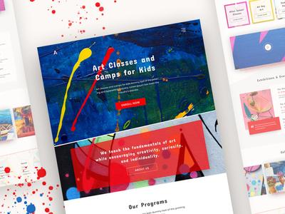 Art School Landing Page