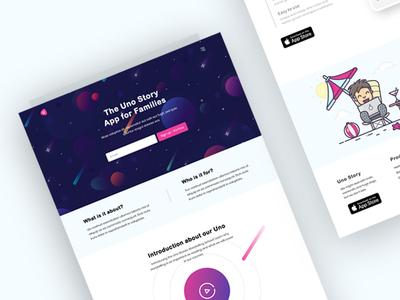 Storytelling App Landing Page