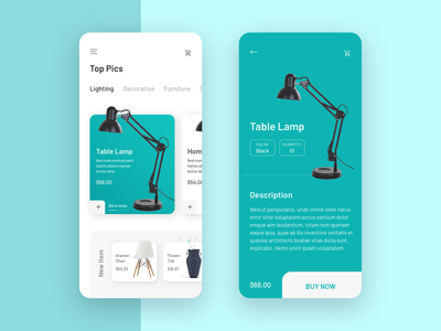 Product App Interface store creative cart ecommerce app android ios interface trend 2019 typography ui design product applicaiton light lamp application product app illustration app design ux ui