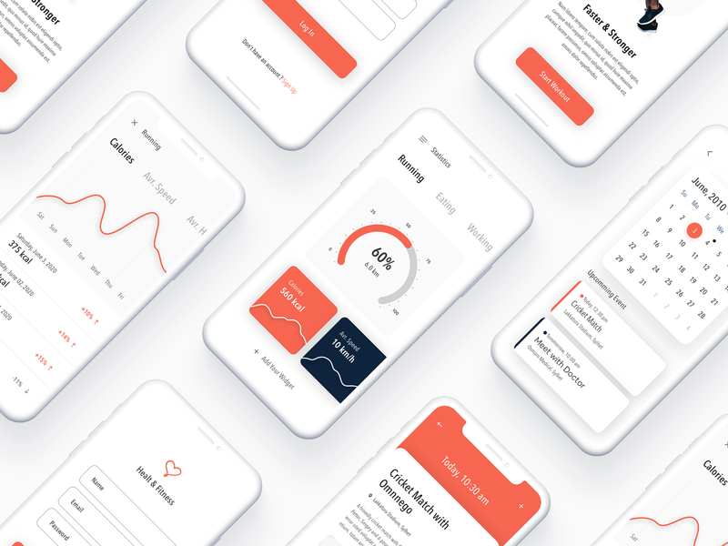 Fitness App graph dashboard app app running diet yoga daily workout event calendar typography color mobile app ios app dribbble trend design ux ui design fitness tracking fitness club fitness app