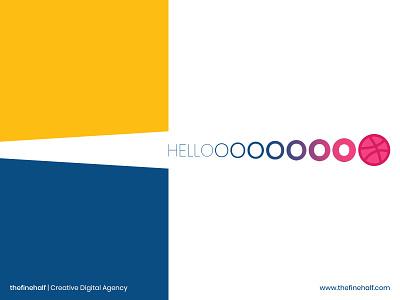 Hello Dribbble! thefinehalf team production design digital agency creative agency hellodribbble