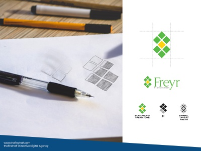 Fryer   Its Clean and Green thefinehalf advertisment solutions business solar energy creative logo logo design design branding agency branding and identity