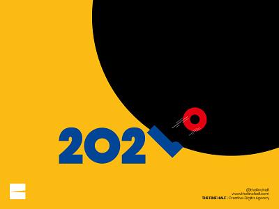 Happy New Year   Kickout 2020 agency poster design advertisement creative poster 2021 minimalist creative design kickoff happynewyear newyearseve