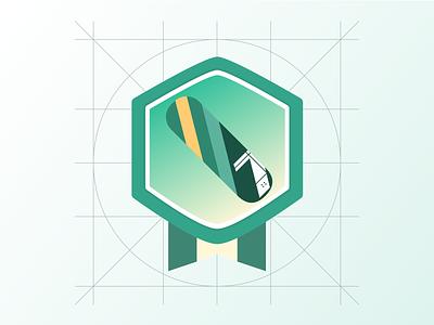 滑板装饰性图标  Decorative skateboard icon typography ui design illustration icon