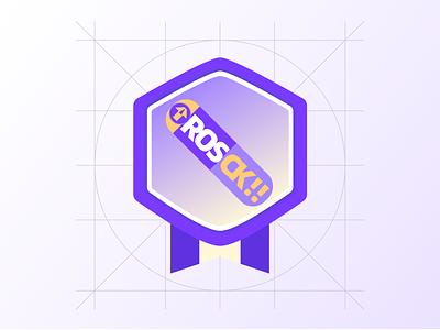 滑板装饰性图标 紫金配色 design icon illustration flat ui