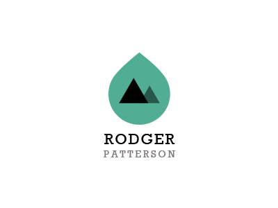 Raindrop logo green blue black grey