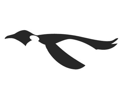 Penguin logo design black white penguin