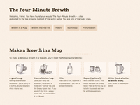 The Four-Minute Brewth