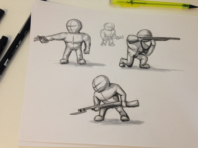 Initial Character Poses
