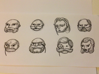 Initial Character Faces