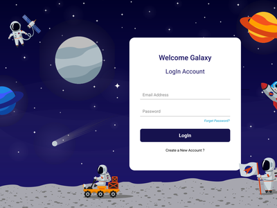 Galaxy Website Login Page galaxywebsite webdesign webpage userinterfacedesign uiux design ux ui