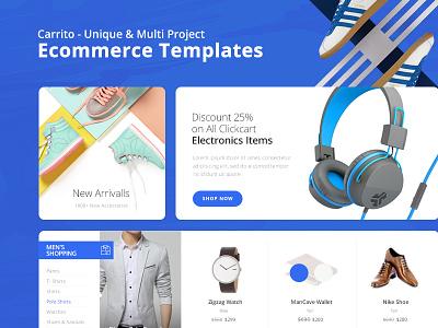 Carrito - Unique & Multi Project Ecommerce Templates fashion store shop minimal multi carrito creative website template ecommerce