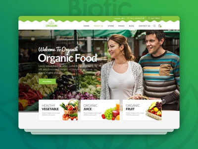 Biotic - Organic Food / Products Template organic health products health food farming farmer farm eco products beauty products agriculture