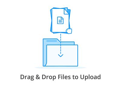 Folder empty state drag and drop empty state folder