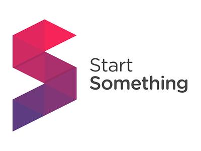 StartSomething Origami Logo Concept folded origami logo