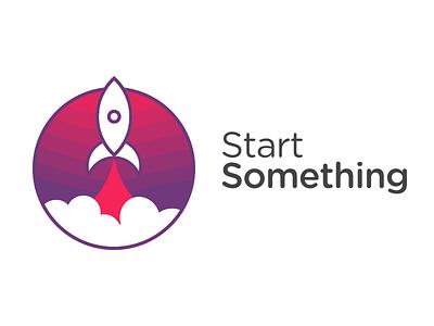 StartSomething Rocket Logo Concept logo rocket