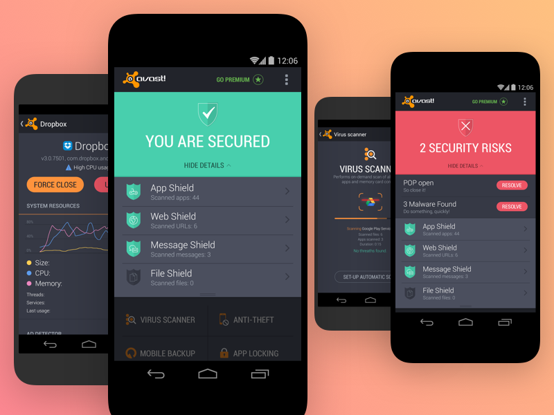 avast mobile security not working