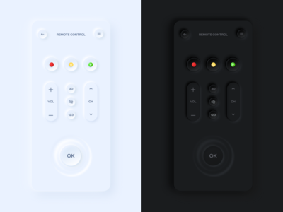 TV Remote Control UI