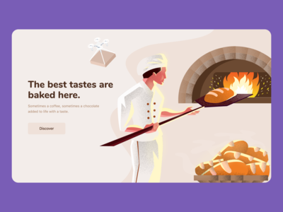 Bakery Slider ui ux header slider bakery