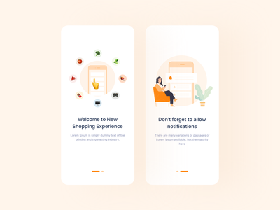 Shopping Onboarding UI illustrator ui onboarding illustration onboarding screen splash onboarding