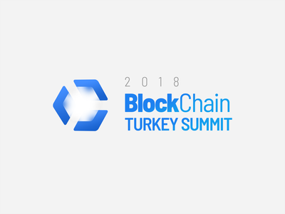 BlockChain TR Summit 2018 Logo Design design logo block chain