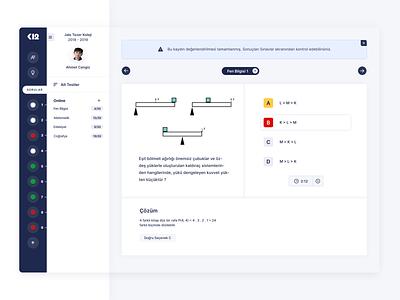 Online Exam Software dashboad exam ux design web ui