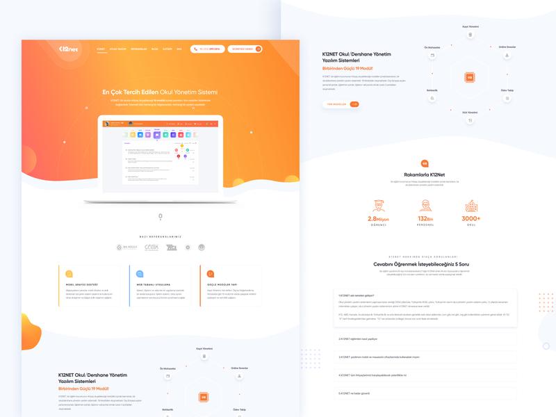 Atlas Educational Software Landing Page saas design saas 2020 daily landing  page ui  ux web design clean ui ux branding