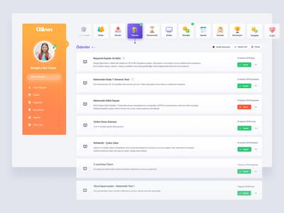 Student Experience v4 Dashboard ui  ux daily 2020 dashboard ui minimal sidebar dashboard web design ux clean web ui orange app