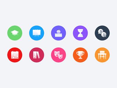 Education Icon Set education icon design icon set icon