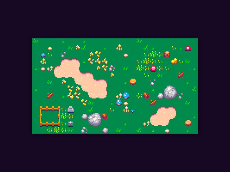 Fantasy Sprites pico8 tileset pixel art pixel video game game