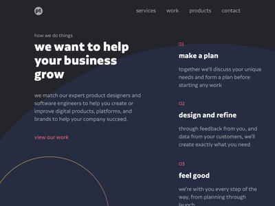 Why Pick Us studio circle sketch agency about us landing page branding design