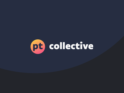 """The Collective"" brand for PT Studio circle gradient design typography branding logo"