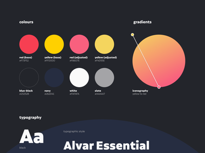 PT Studio Style Guide circle palette colorscheme typogaphy gradient branding design