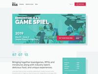 Edmonton Game Spiel Landing Page