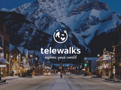 Telewalks Postcard typography logo sketch app branding design