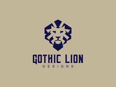 Gothic Lion Head logo t shirt design company logo branding design logo design logo