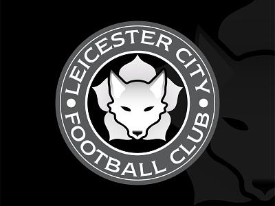 Leicester City F.C Crest Redesign crest logo logo design british redesign fox logo leicester fox premierleague soccer football club football emblem crest gradient illustrator vector logo design