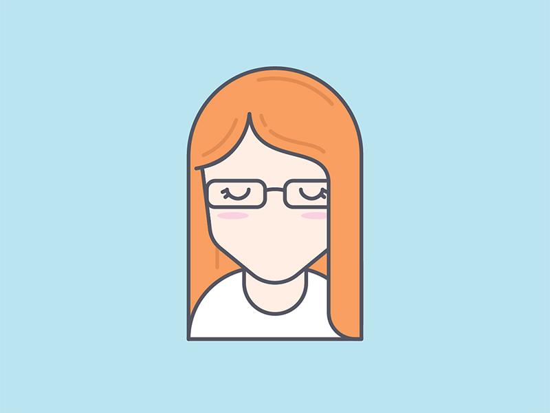 Self portrait personal brand line art line icon muted color vector illustrator selfie self portrait