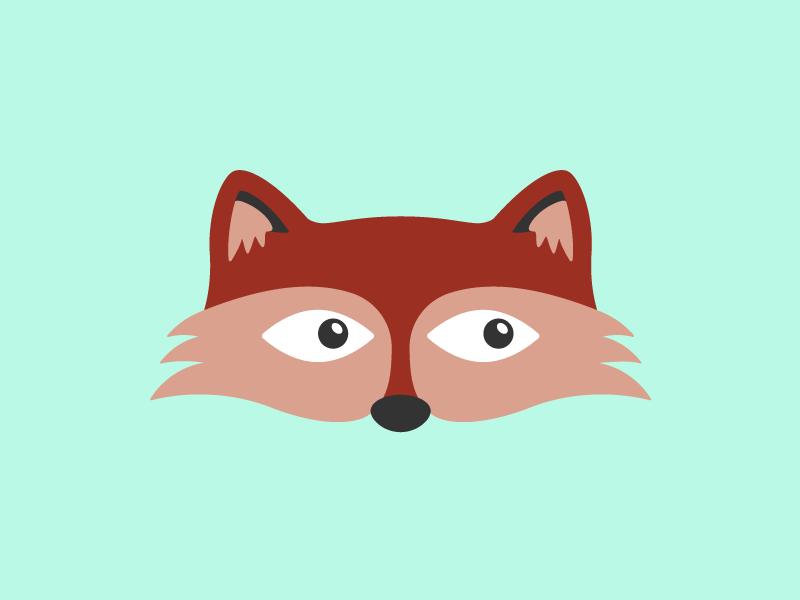 Fox flat cute vector character illustration animal fox
