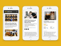 Beer Advocate mobile screens