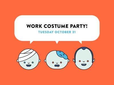 Halloween costume contest announcement invite cute characters zombie dracula mummy icon halloween